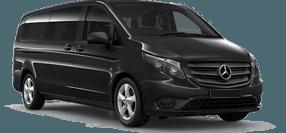 Imagine cu Mercedes Benz minivan 8 locuri pentru transfer minivan