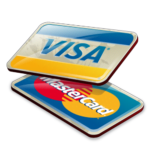 Visa and Mastercard sign card payment available at primus trans